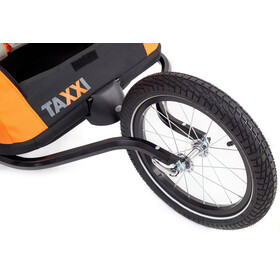 s'cool taXXi Pro - Remorque vélo - for Two orange